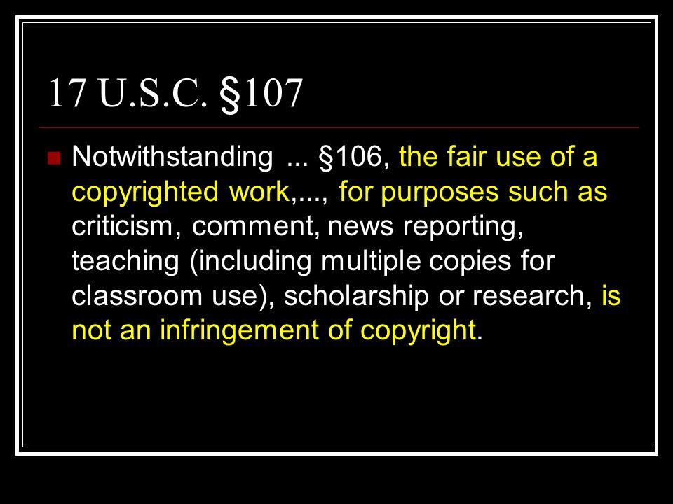 17 U.S.C. §107