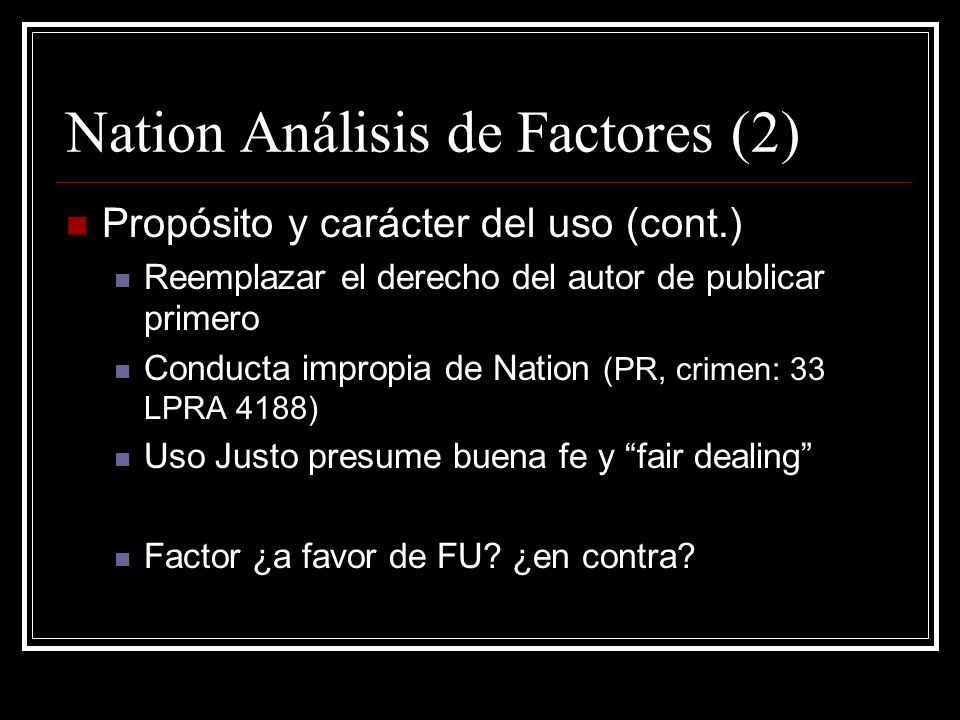 Nation Análisis de Factores (2)
