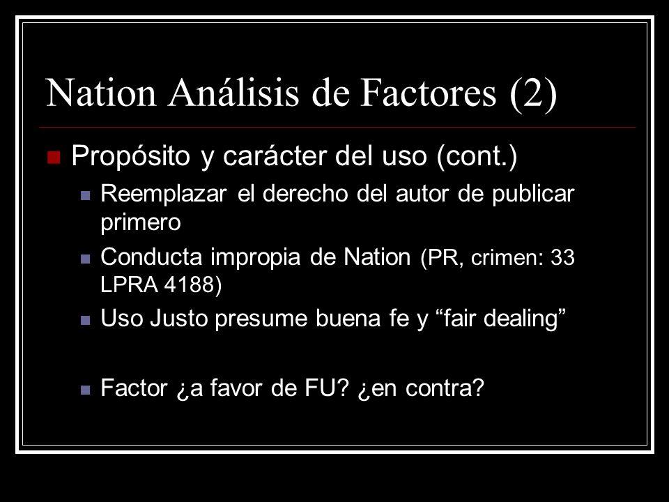Nation Análisis de Factores (2)