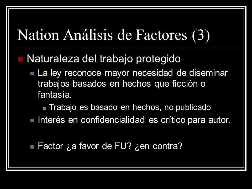 Nation Análisis de Factores (3)