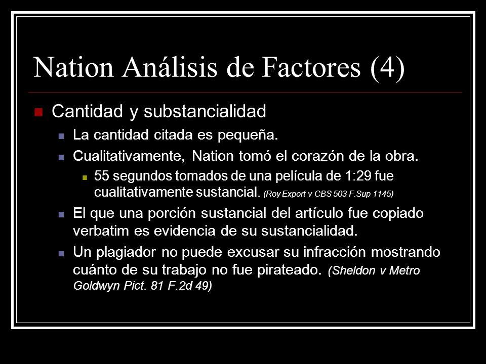 Nation Análisis de Factores (4)
