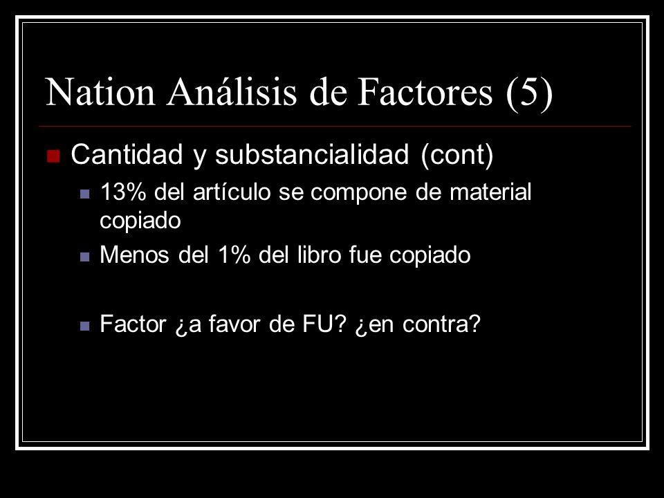 Nation Análisis de Factores (5)