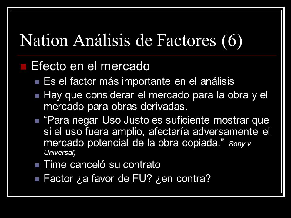 Nation Análisis de Factores (6)