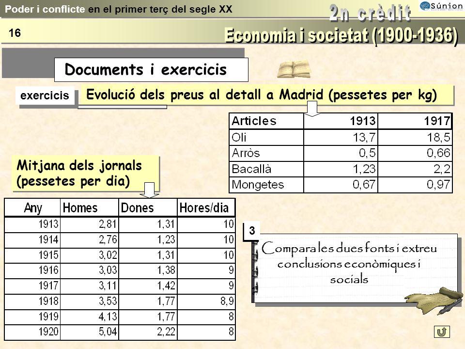 Compara les dues fonts i extreu conclusions econòmiques i socials