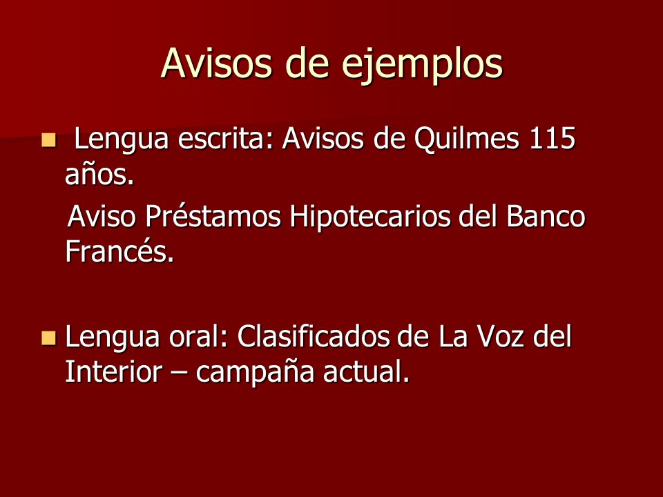 Avisos de ejemplos Lengua escrita: Avisos de Quilmes 115 años.