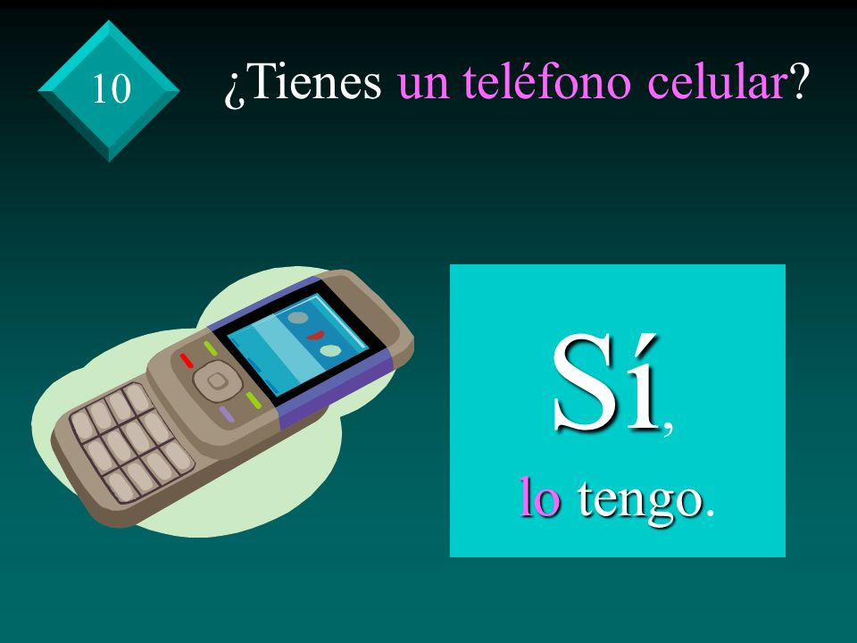 ¿Tienes un teléfono celular