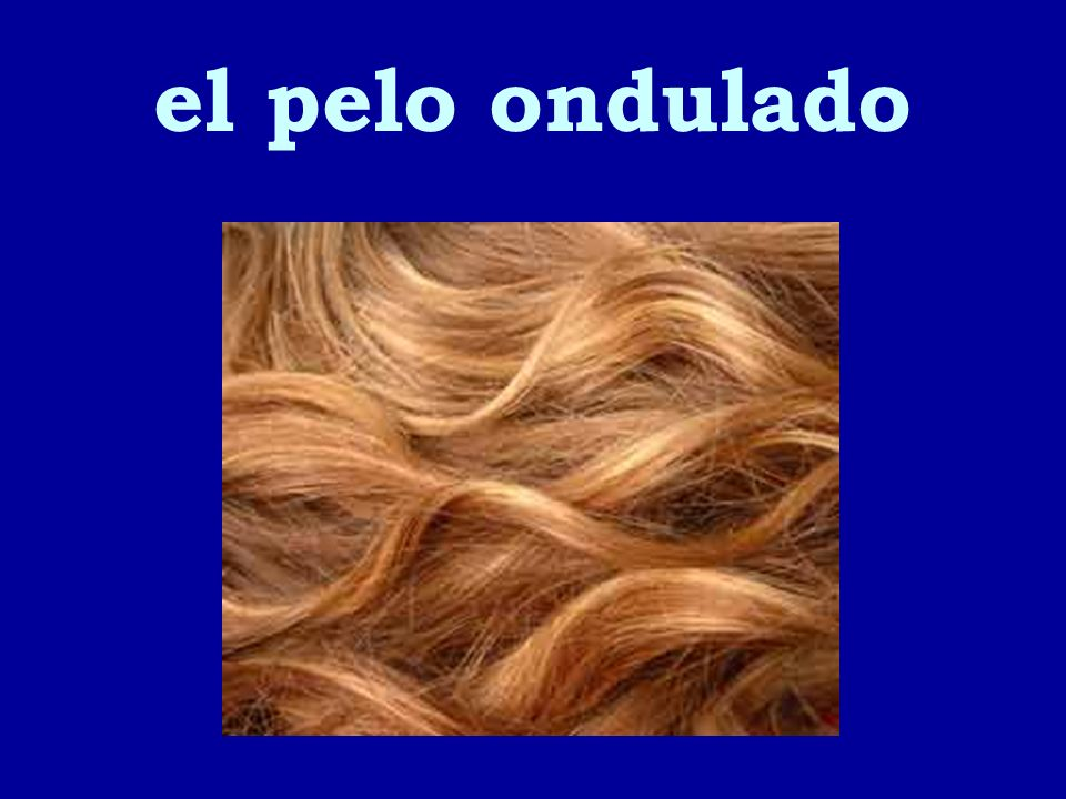 el pelo ondulado