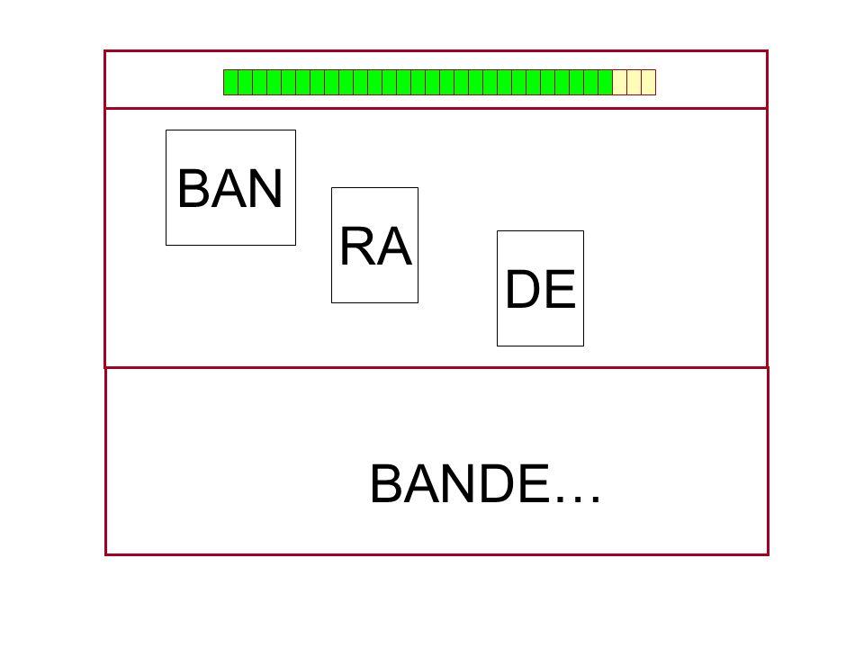 BAN RA DE BANDE… …