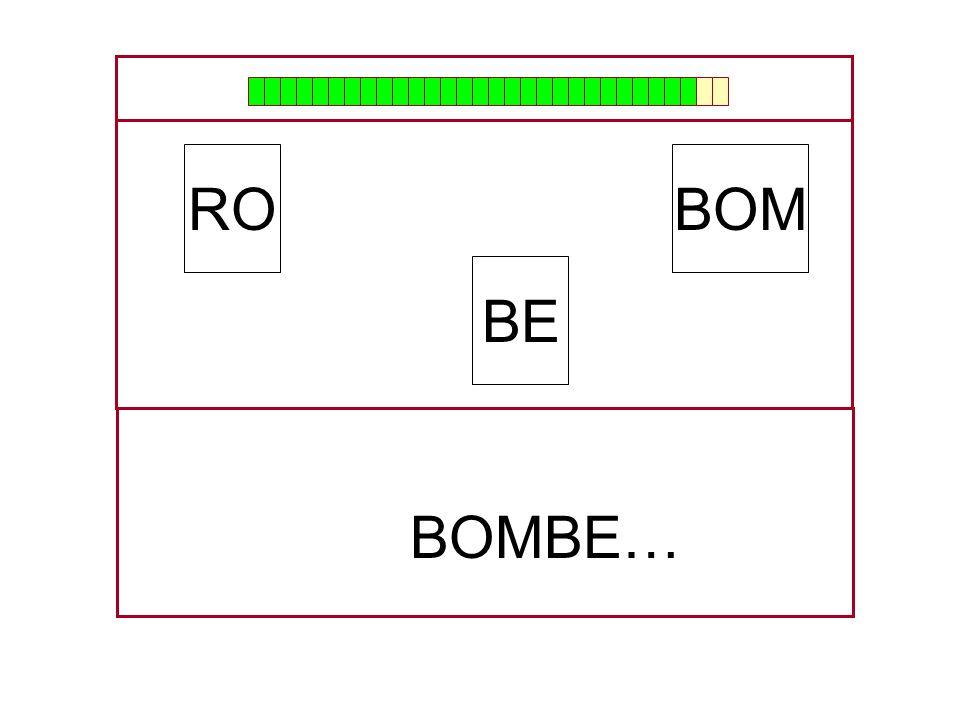 RO BOM BE BOMBE… …