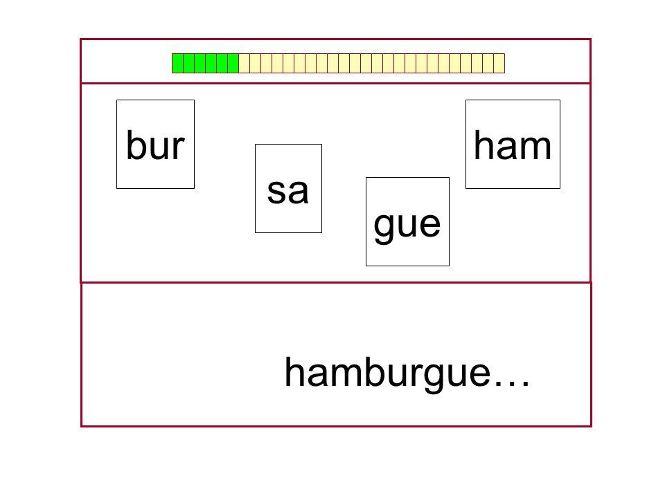 bur ham sa gue hamburgue… …