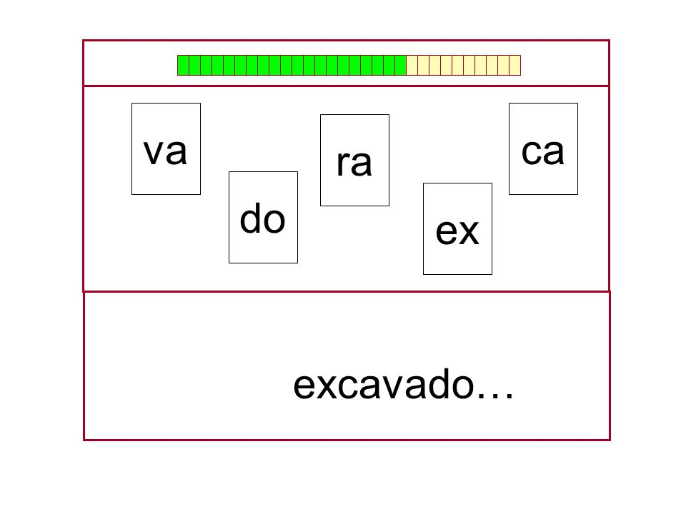 va ca ra do ex … excavado…