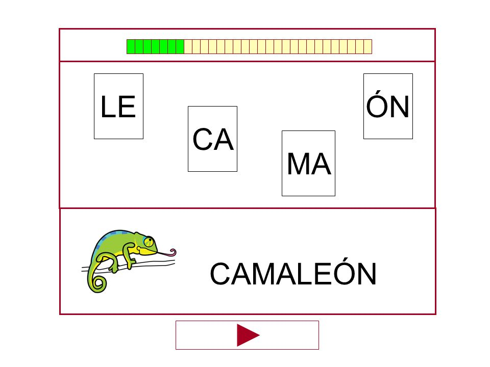 LE ÓN CA MA CAMALEÓN …