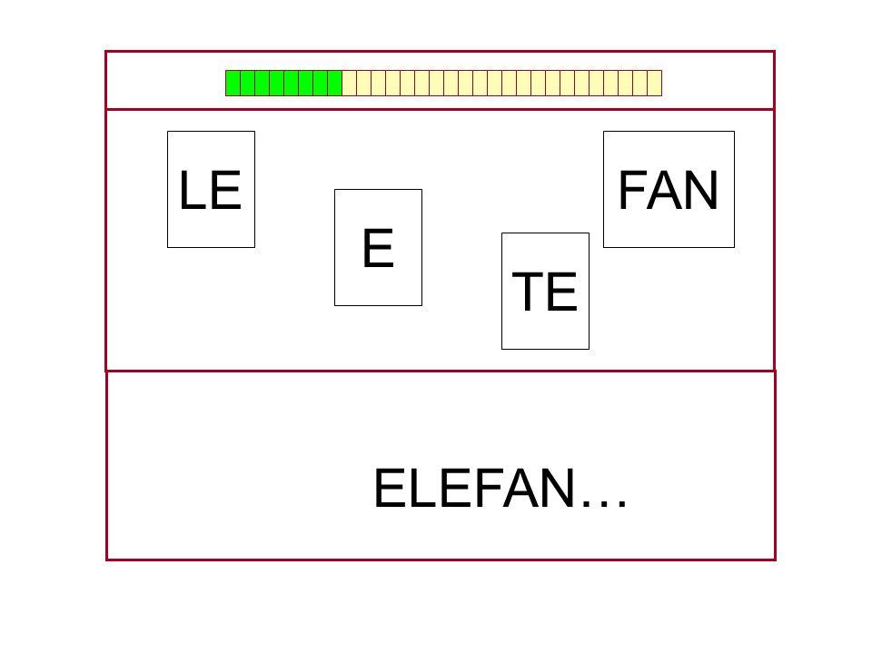 LE FAN E TE ELEFAN… …