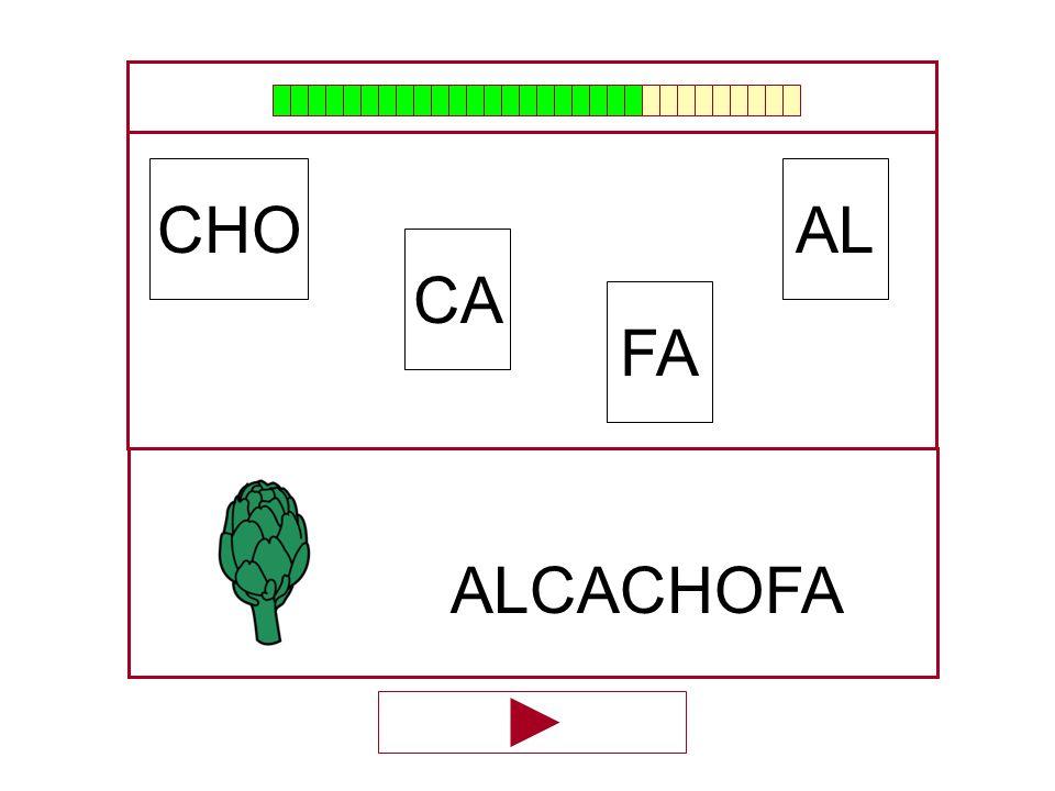 CHO AL CA FA ALCACHOFA …