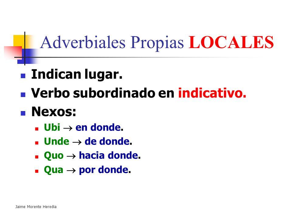 Adverbiales Propias LOCALES