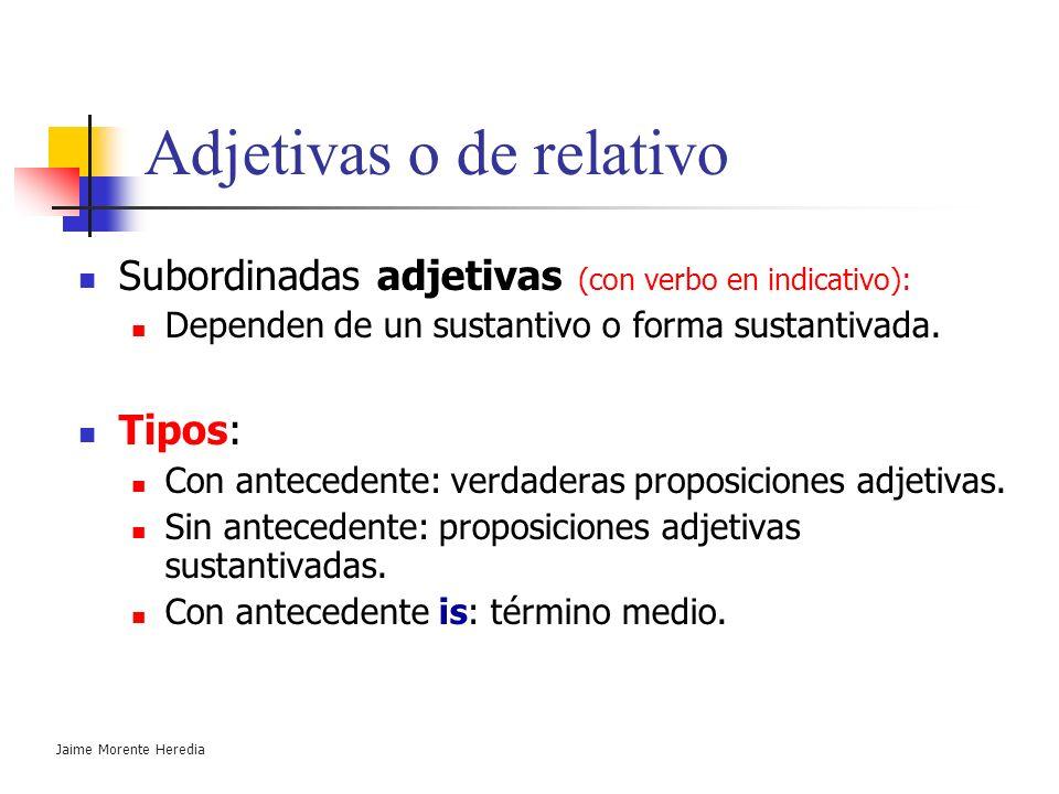Adjetivas o de relativo