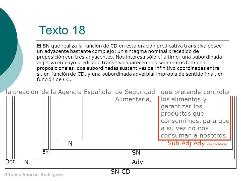 Texto 18 la creación de la Agencia Española de Seguridad Alimentaria,