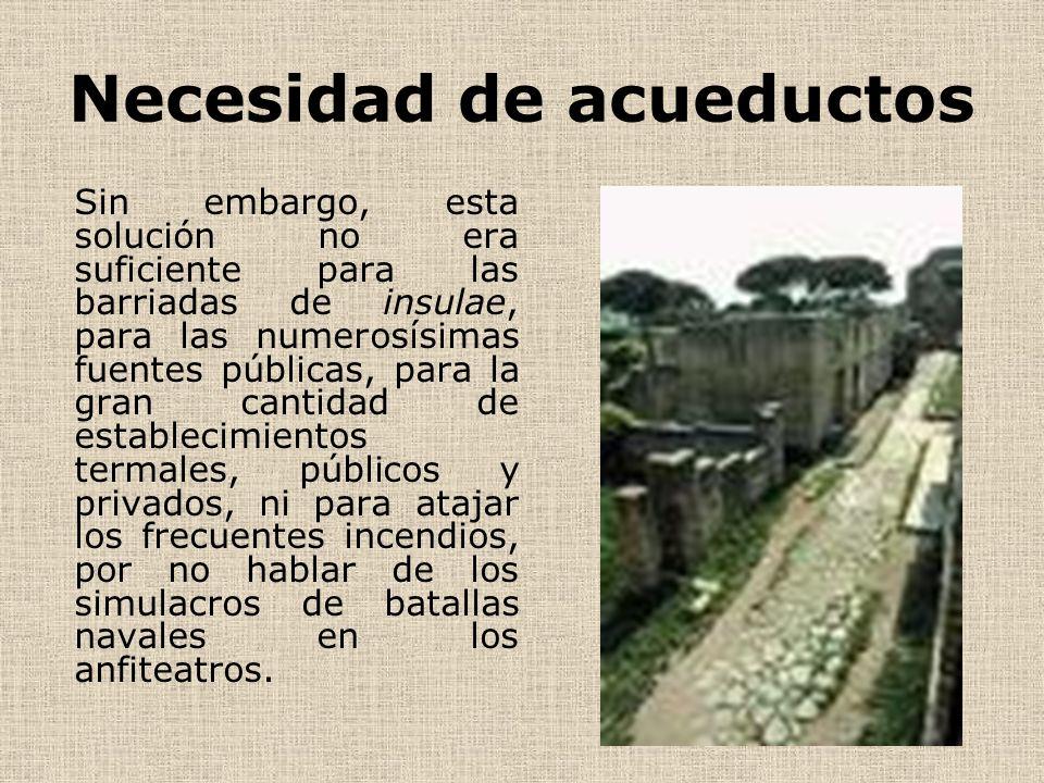 Necesidad de acueductos
