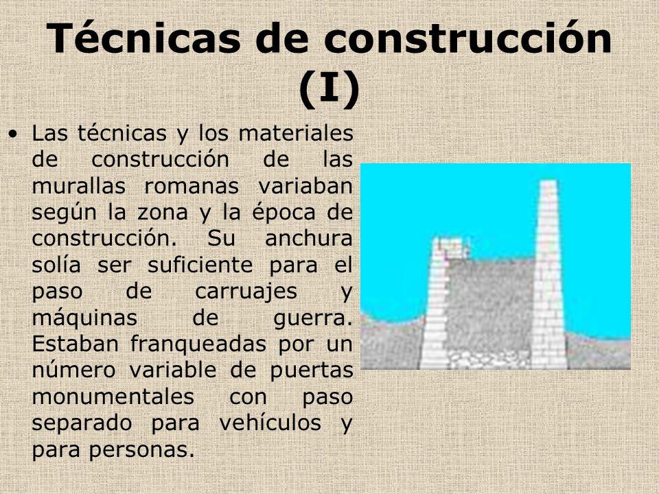 Técnicas de construcción (I)