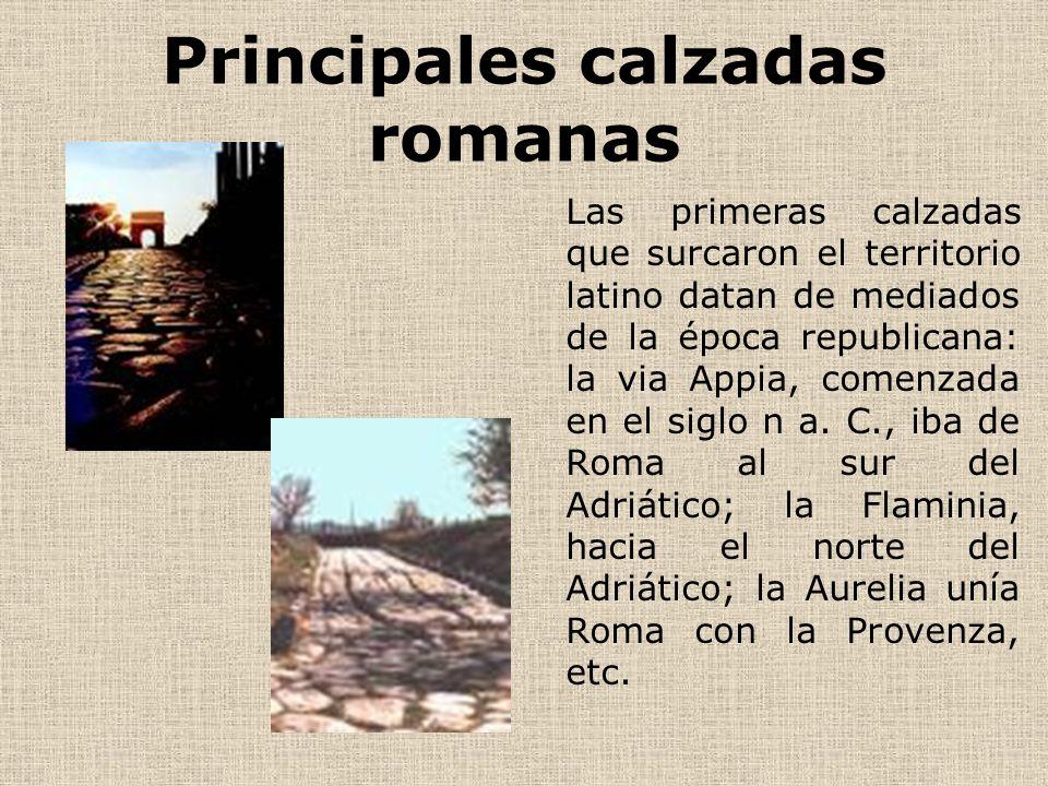 Principales calzadas romanas