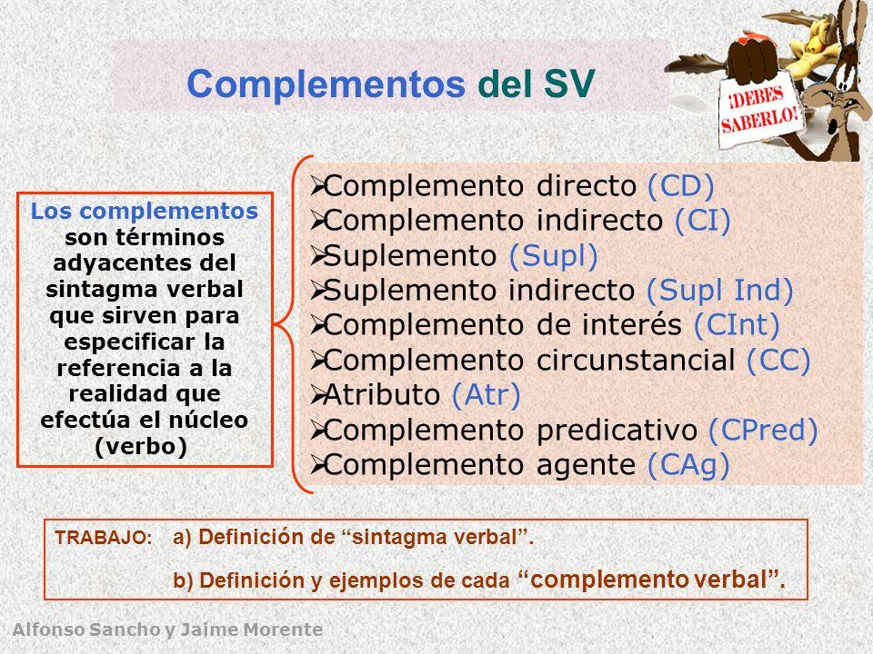 Complementos del SV Complemento directo (CD)