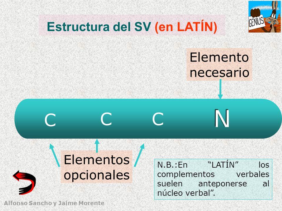 Estructura del SV (en LATÍN)