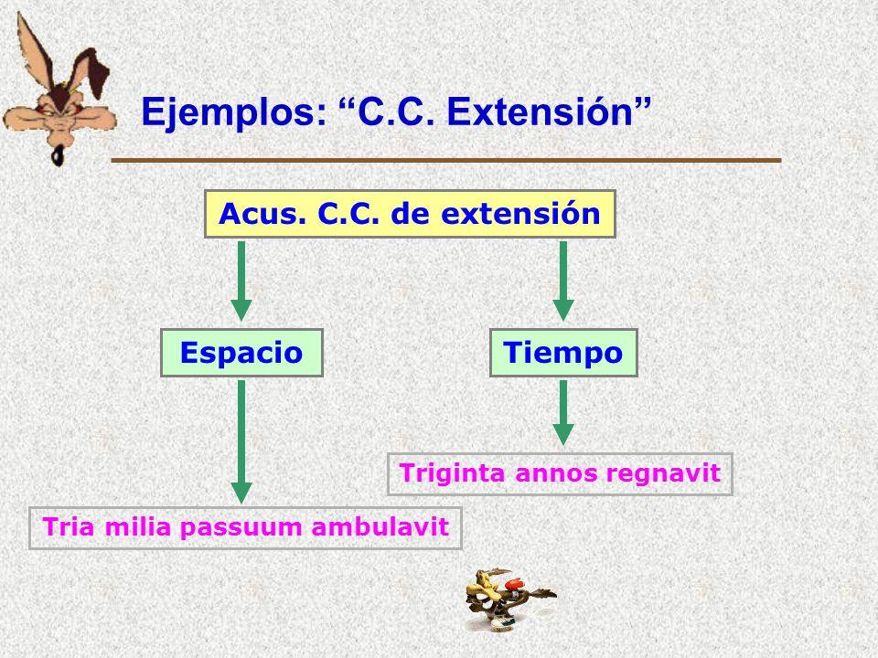 Ejemplos: C.C. Extensión