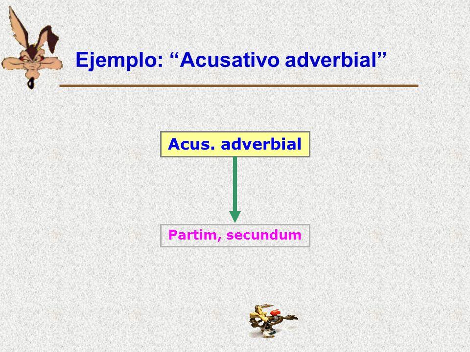 Ejemplo: Acusativo adverbial