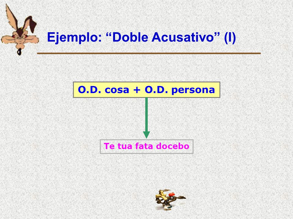 Ejemplo: Doble Acusativo (I)
