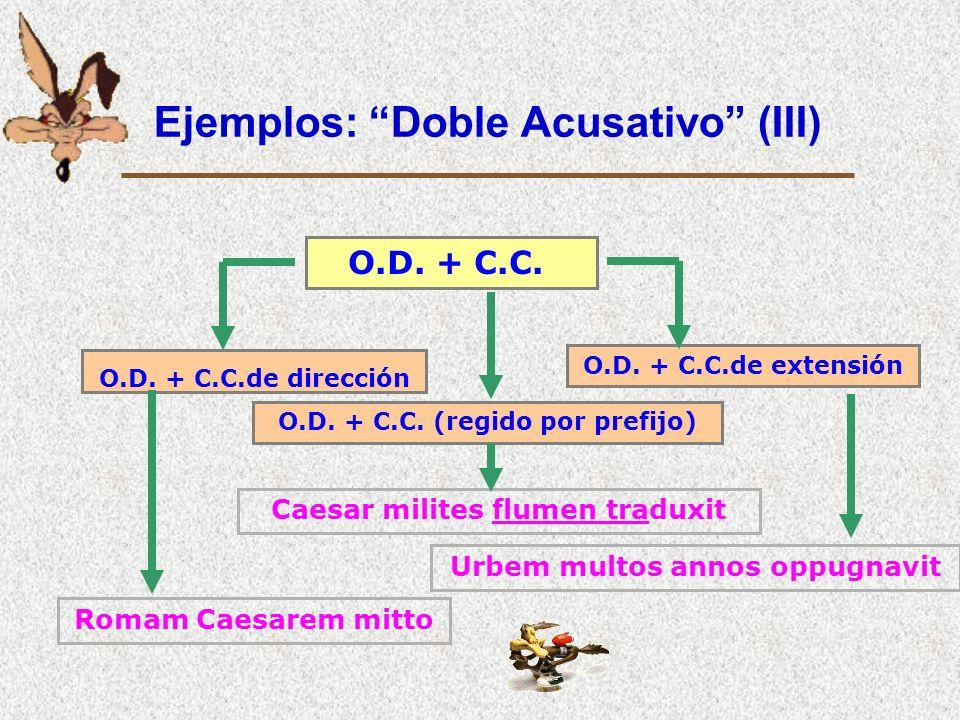 Ejemplos: Doble Acusativo (III)