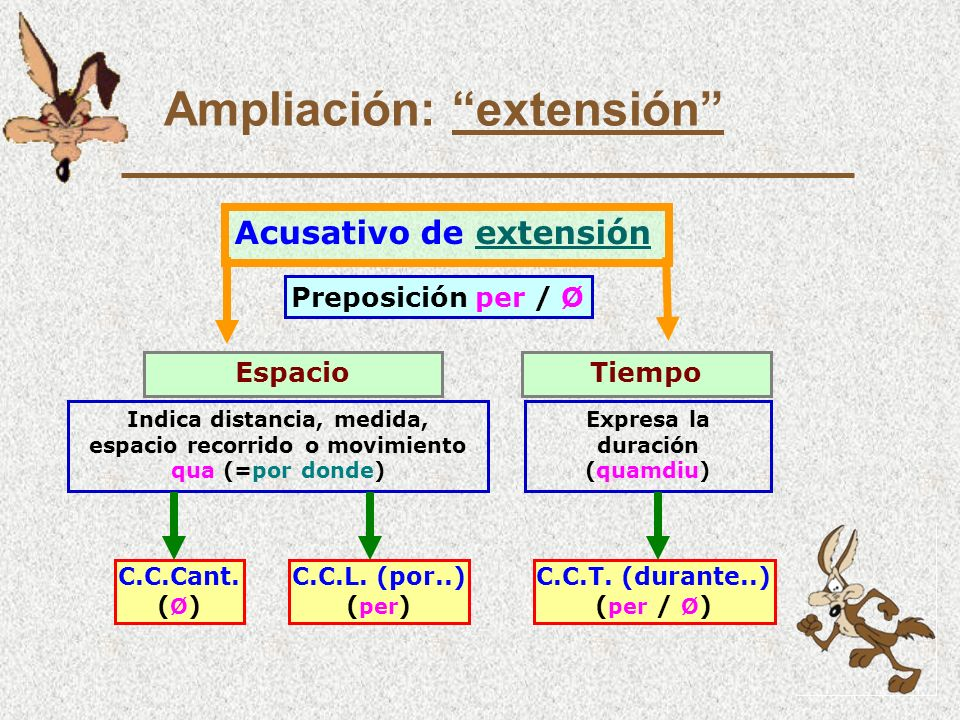 Ampliación: extensión