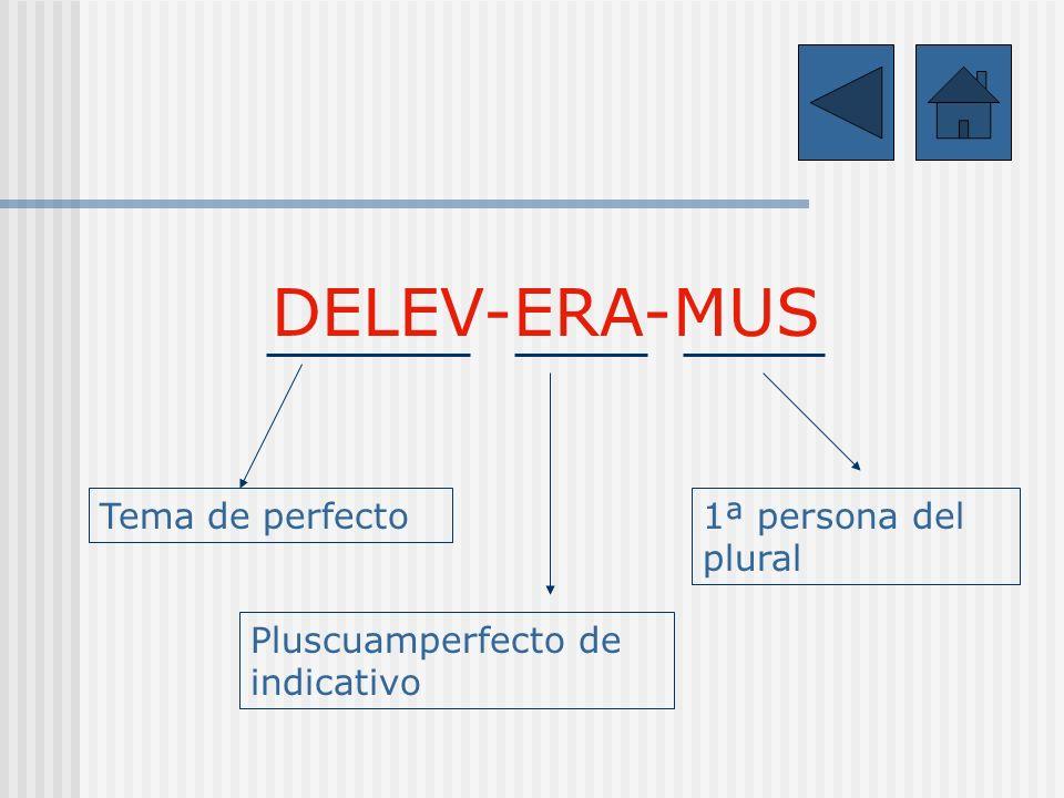 DELEV-ERA-MUS Tema de perfecto Pluscuamperfecto de indicativo