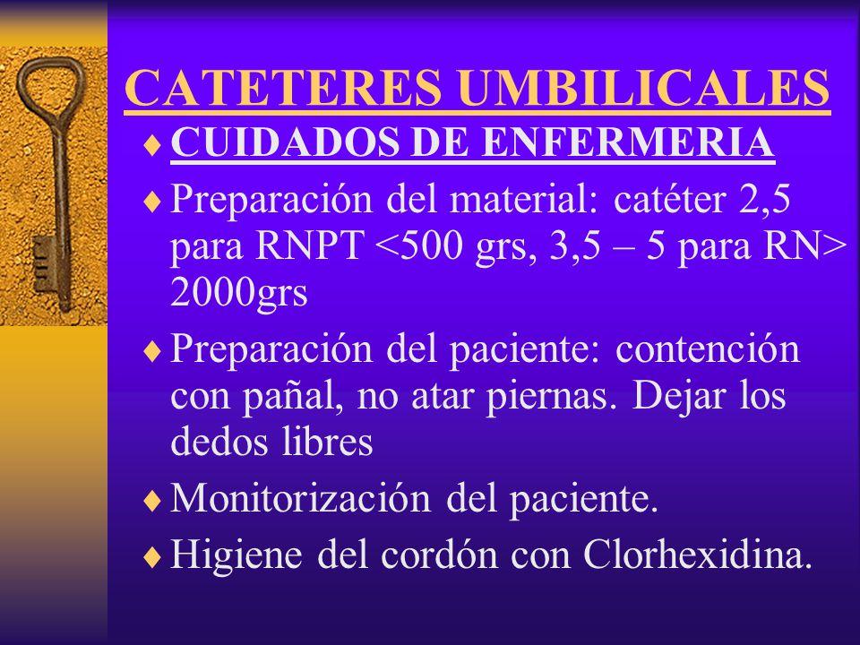 CATETERES UMBILICALES