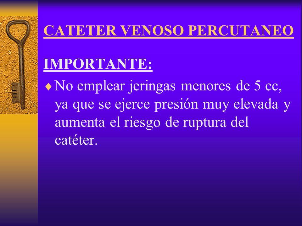CATETER VENOSO PERCUTANEO