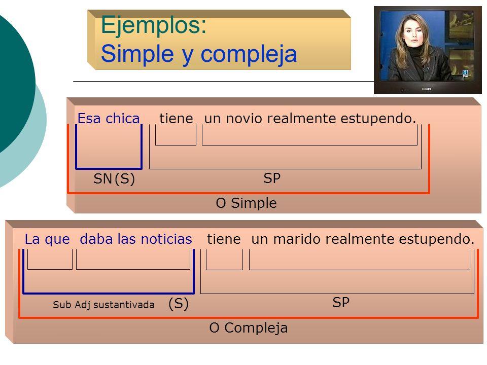 Ejemplos: Simple y compleja
