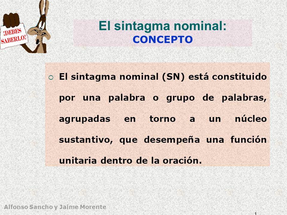 El sintagma nominal: CONCEPTO