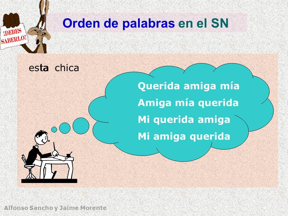 Orden de palabras en el SN