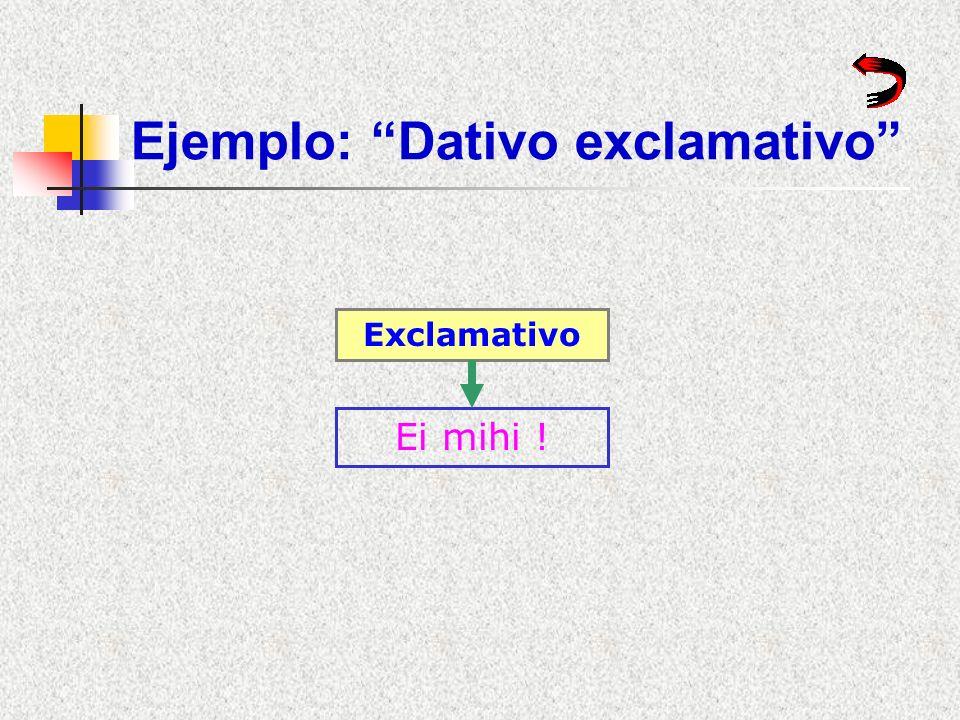Ejemplo: Dativo exclamativo
