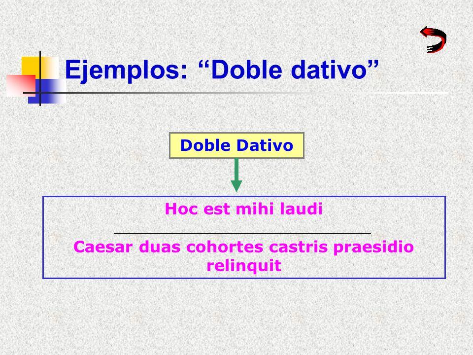 Ejemplos: Doble dativo