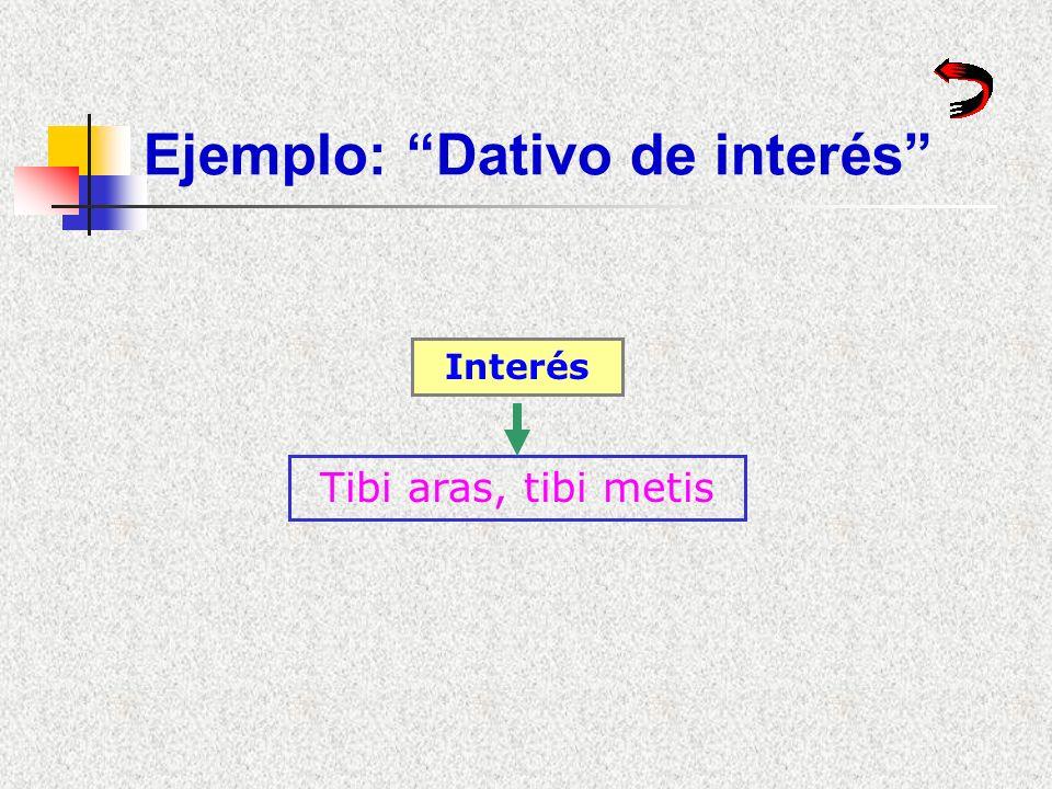 Ejemplo: Dativo de interés