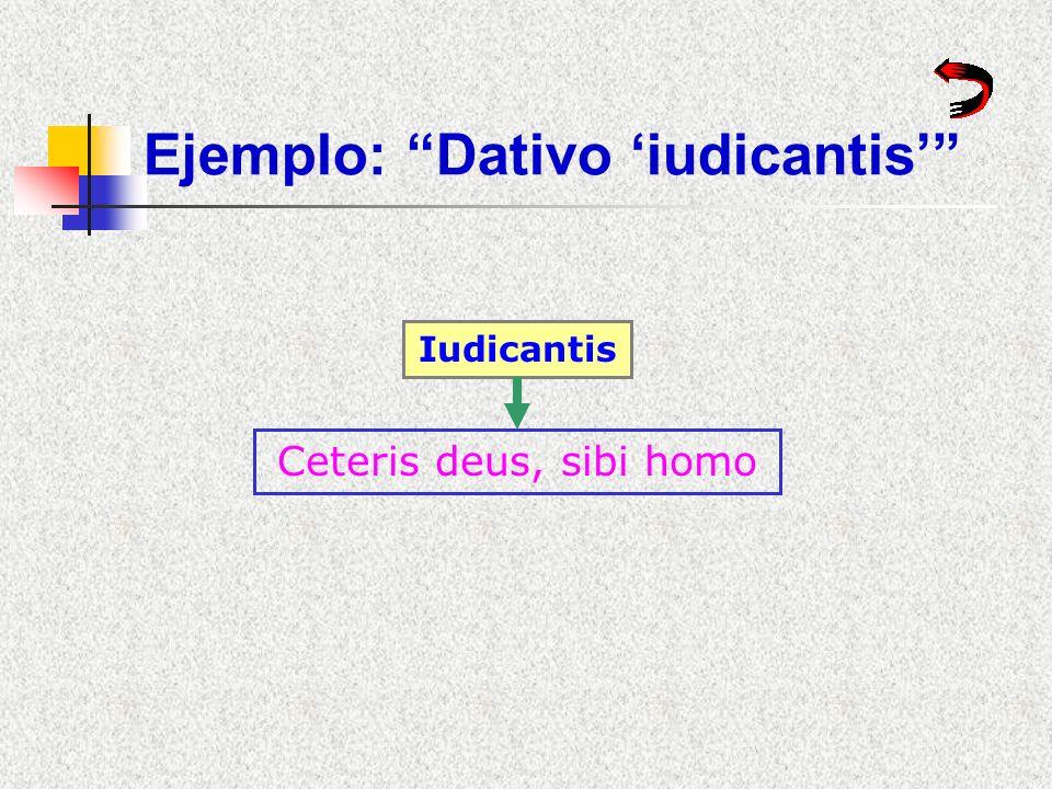 Ejemplo: Dativo 'iudicantis'
