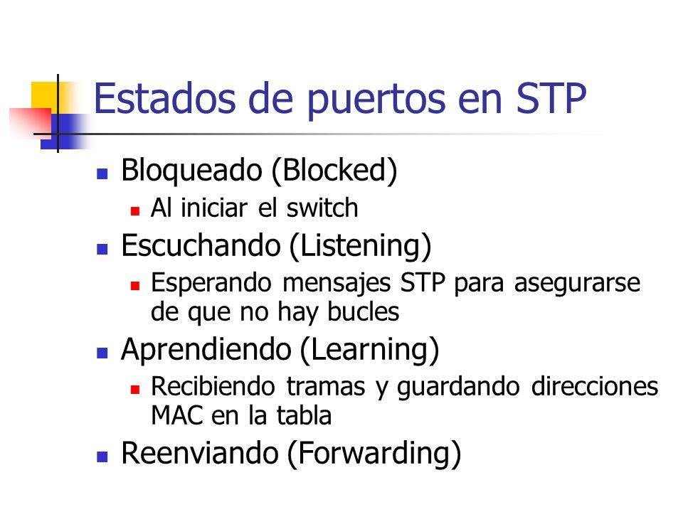 Estados de puertos en STP
