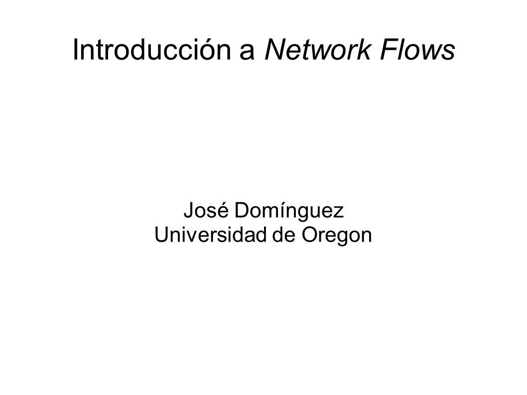 Introducción a Network Flows