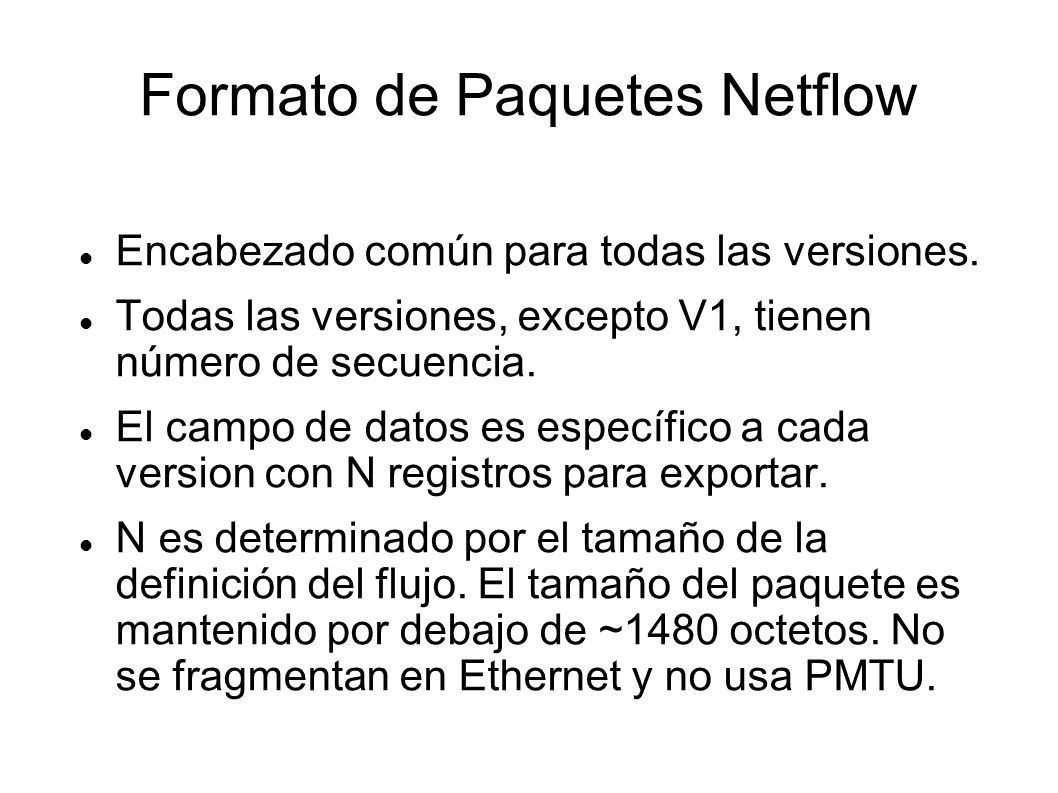 Formato de Paquetes Netflow