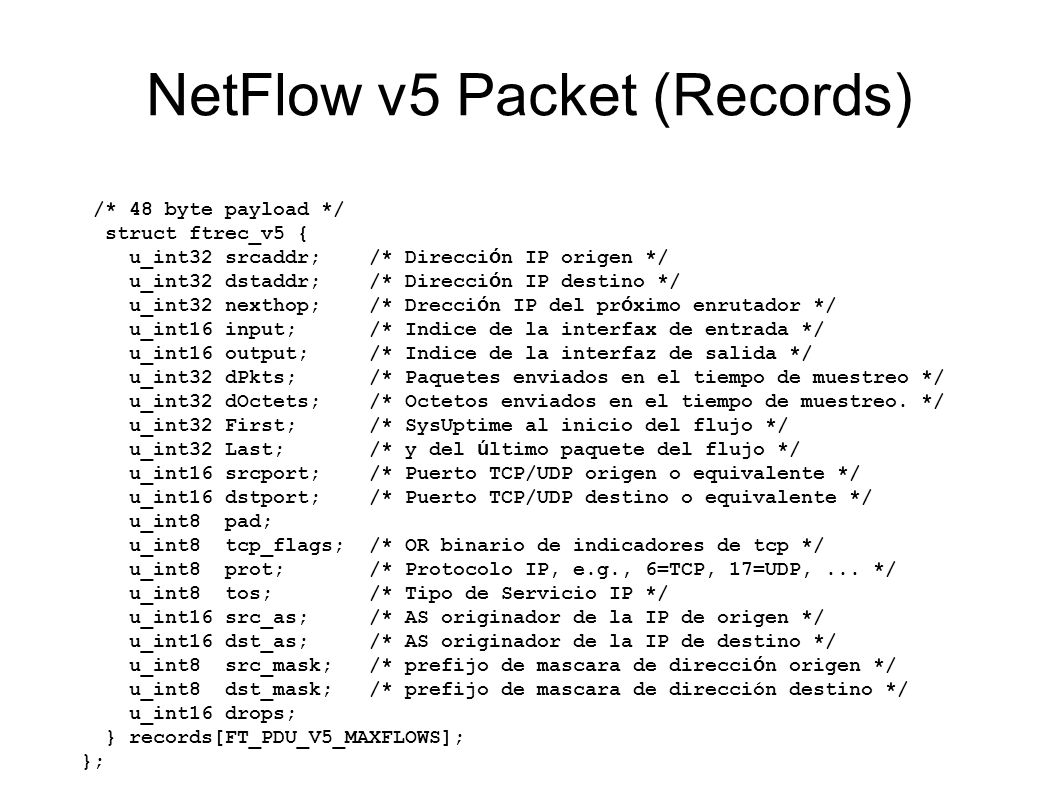 NetFlow v5 Packet (Records)