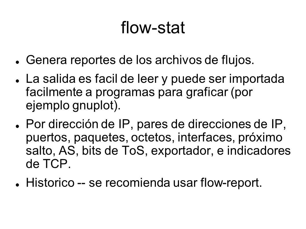 flow-stat Genera reportes de los archivos de flujos.