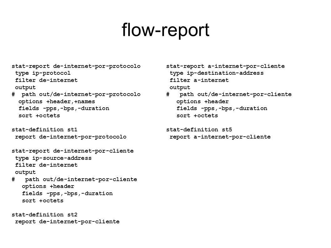 flow-report stat-report de-internet-por-protocolo type ip-protocol