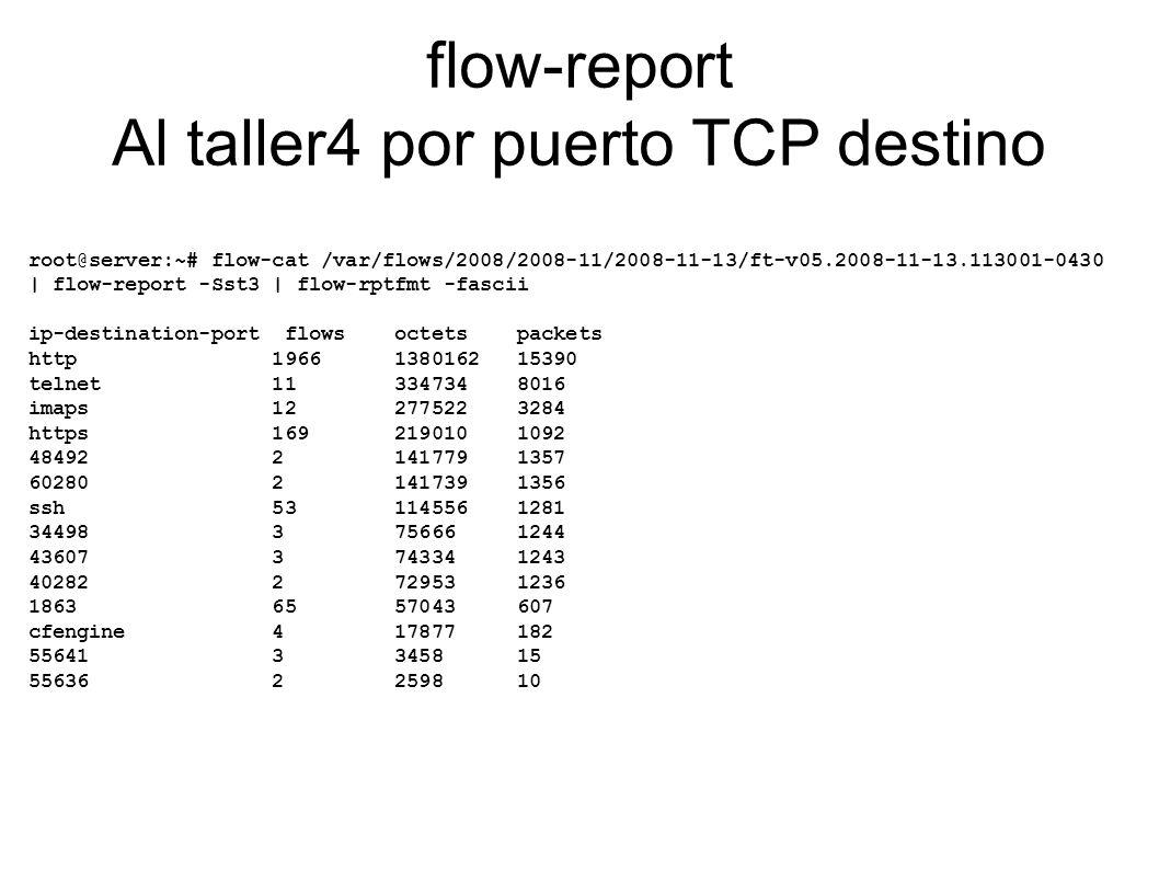 flow-report Al taller4 por puerto TCP destino