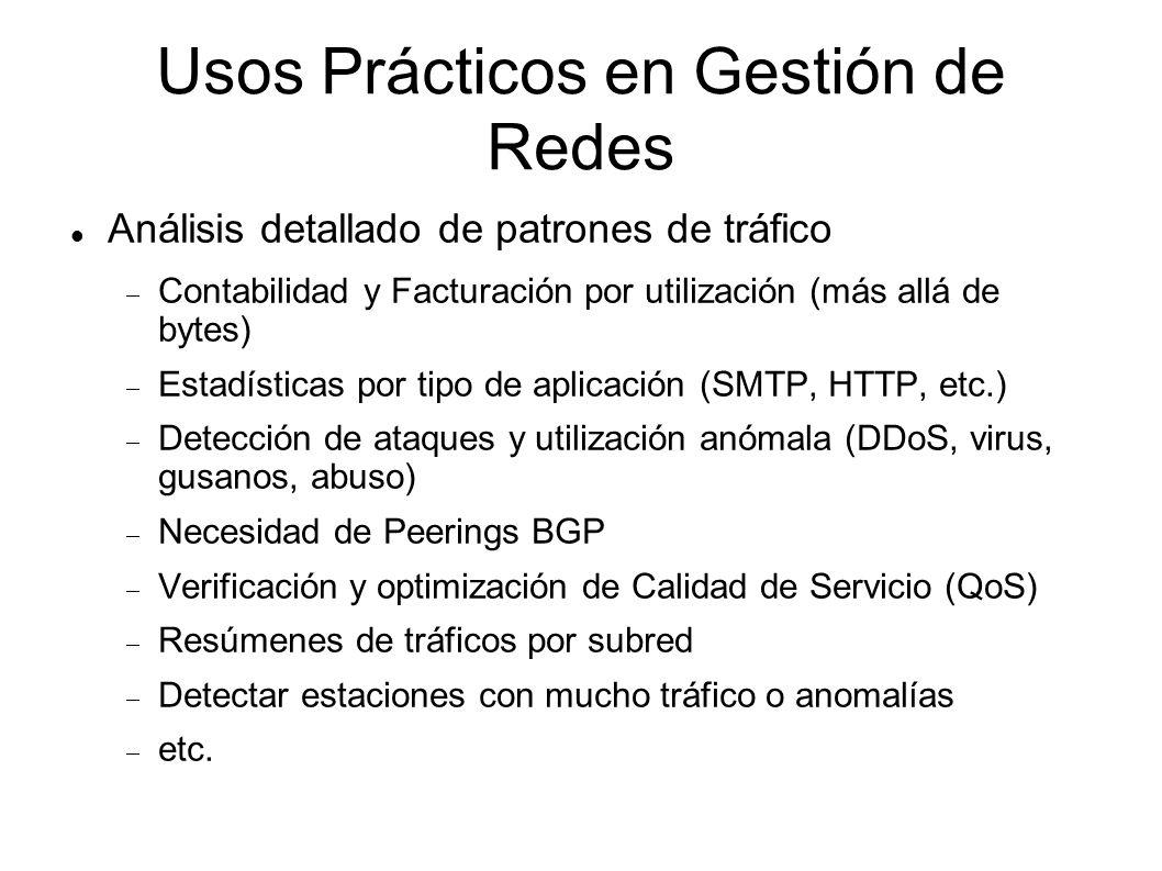 Usos Prácticos en Gestión de Redes