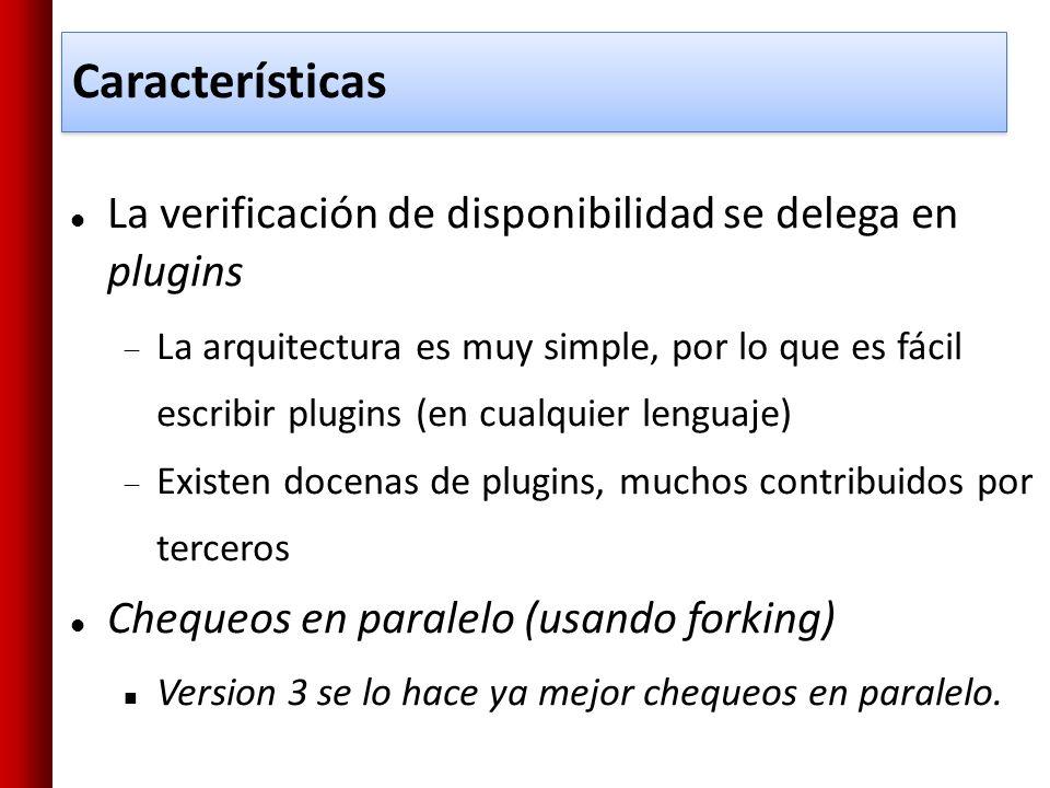 Características La verificación de disponibilidad se delega en plugins